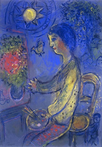Le peintre en jaune by marc chagall on artnet for Chagall peintre