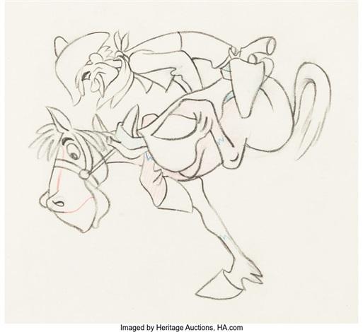 Melody Time Pecos Bill And Widowmaker Animation Drawing Walt Disney 1948 By Walt Disney Studios On Artnet