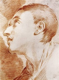 the head of a youth in profile by ubaldo gandolfi