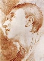 the head of a youth in profile by ubaldo gandolfi