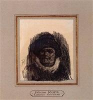 head of a man (lamme goedzak) by félicien joseph victor rops