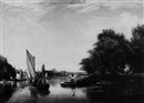 George Hilditch, Boating parties near a river town