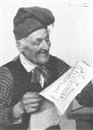 E. Torrini, Old man reading the paper
