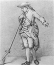 Follower Of Jordanus Hoorn, Standing soldier holding a musket