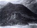Attributed To Thomas James Mulvany, A view of Carlingford Castle