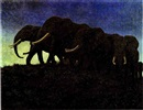 Arthur Radclyffe Dugmore, THE MOONLIGHT MARCH OF THE AFRICAN ELEPHANTS