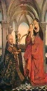 Style Of Jan van Eyck, MADONNA IN ROTEM MANTYEL MIT KIND UND STIFTERFIGUR
