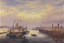 Charles Frederick Kimball, PORTLAND HARBOR     SIGNED BY PAULINE LAWRENCE, GRANDDAUGHTER OF THE ARTIST