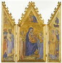 Giovanni di Paolo, THE MADONNA AND CHILD ENTHRONED WITH SAINTS JEROME, BARTHOLOMEW...