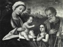Manner Of Girolamo da Santacroce, THE HOLY FAMILY WITH THE YOUNG SAINT JOHN THE BAPTIST