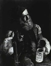 Arthur Ahnert, OLD MAN WITH A PIPE AND STEIN