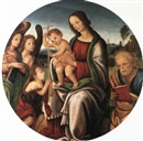 Attributed To Filippo (Filippino) Lippi, MADONNA MIT CHRISTUS UND JOHANNESKNABE