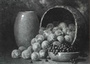 Leonard Woodruff, Still life of fruit