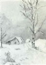 Blanche M. Kelley, Winter scene