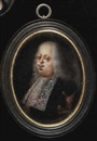 Jean Mussard, Cosimo III de Medici, Duke of Tuscany, with long grey hair and small moustache, wearing a black gown