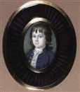 Attributed To John Bogle, A Boy in blue coat and white waistcoat with gold coloured buttons