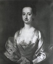 Circle Of Cotes, PORTRAIT OF A LADY, BUST-LENGTH, WEARING A WHITE SILK DRESS AND A PINK SHAWL