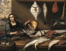 Follower Of Willem Ormea, Fishwife at a fish-stall