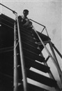 Gertrud Arndt, Alfred Arndt at top of a ladder