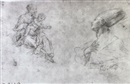 Fabrizio Santafede, Studies of the Madonna and Child and St. Januarius
