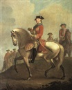 David Morier, Equestrian portrait of George III with the Duke of Cumberland and troops