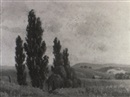 Erik (Sir) Langker, Landscape with poplars