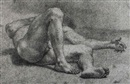 Domenico Corvi, A reclining male nude