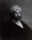 Attributed To Jacob van Spreeuwen, Portrait of a man wearing a turban