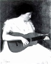 George Charles Aid, Woman with guitar