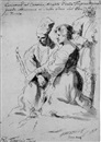 Flaminio (Dagli Ancinelli) Torri, A caricature of a penitent couple