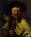 Follower Of Hendrick ter Brugghen, A bravo smoking a pipe