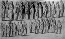 Barent Avercamp, Two rows of standing figures