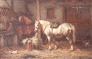 Wilhelm Johan Jacobus, Two horses in a stable