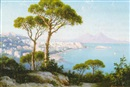 Domenico Ammirato, The Bay of Naples looking towards Mount Vesuvius