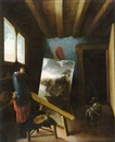 Attributed To Jacob van Spreeuwen, L'atelier du peintre