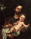 Follower Of Antonio de Pereda y Saldago, Saint Joseph with the Infant Christ
