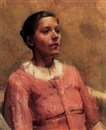 William Coldstream, Portrait of a lady in pink
