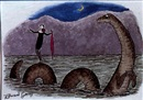 Edward Gorey, Woman standing on back of sea monster