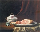 Charles Hutin, Still life with ham and soup tureen