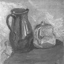 Julia Michel-Hoerner Black, Still life of pitcher and teapot