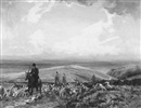 Alexander Carruthers Gould, With the D and S.S.H. on Stoke Common Exmoor - A hunting scene