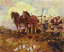 Leslie Cope, Plowing the fields