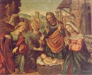 Circle Of Girolamo da Santacroce, The Nativity with SS. Catherine and John the Evangelist