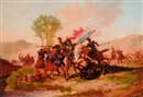 Auguste Viande, A cavalry skirmish between French and Polish soldiers