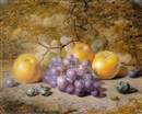 Charles Archer, Still life with apples and grapes