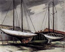 Abraham Harriton, Boats in dry dock, Long Island