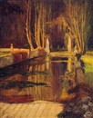 Henry James Albright, The reflecting pool