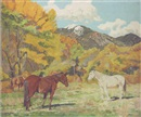 Walter Ufer, Cottonwood and wild horses