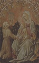 Circle Of Antonio Alberti (da Ferrara), The Madonna and Child with Saints Bernardino of Siena