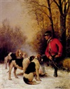Jean Victor Albert de Gesne, A huntsman with his dogs